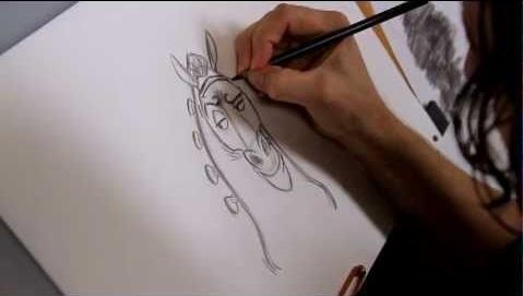 Les chevaux dans les dessins animés