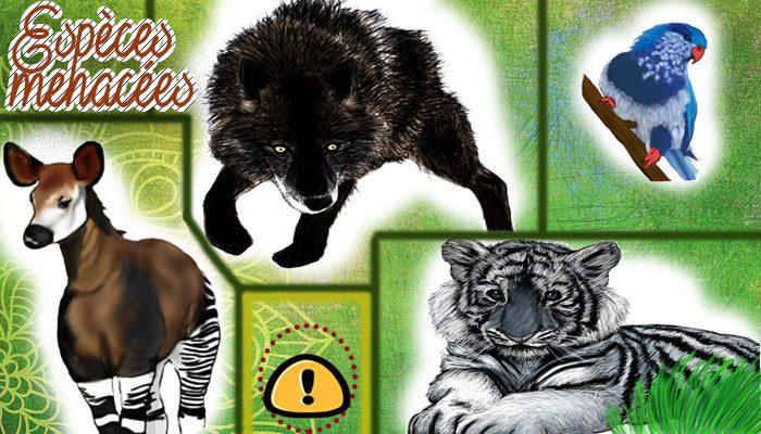 Les espèces animales en voie de disparition