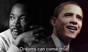 Luther King et Obama