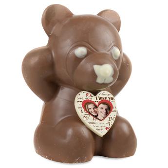 ourson en chocolat personnalisé
