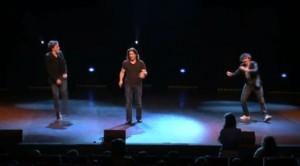 Jérémy Ferrari, Arnaud Tsamère et Baptiste Lecaplain dans la tournée du trio