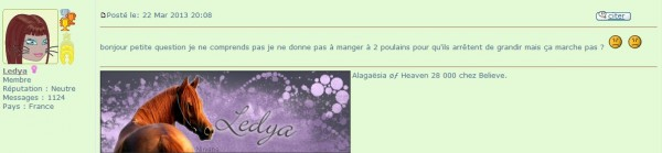 Question de Ledya dans la FAQ