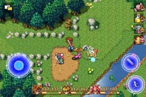 capture d'écran du jeu secret of mana sur iphone