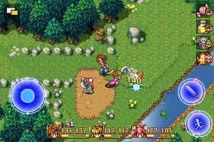 capture d'écran du jeu secret of mana sur iphone