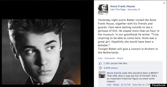 Anne Frank, une belieber ?