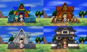 Les différentes maisons