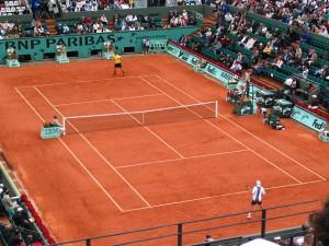 Cours tennis sur de terre battue