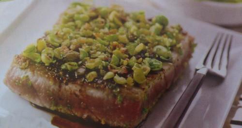 Le thon en croûte de wasabi