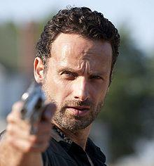 Andrew Lincoln en Rick Grimes dans the walking dead