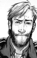 Portrait de Rick Grimes dans le comic the walking dead