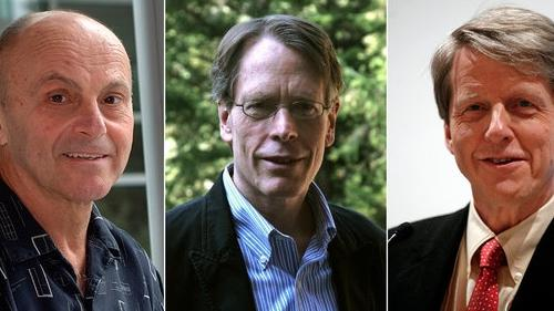 Eugene Fama, Lars Hansen et Robert Shiller.
