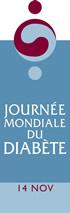 Logo de la journée du diabète