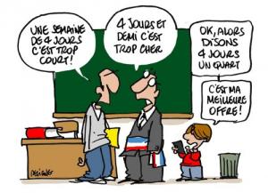 Image humoristique sur la réforme des rythmes scolaires