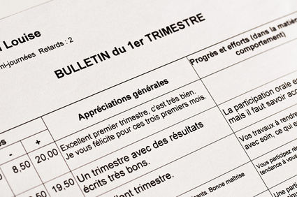 Faire un bilan du premier trimestre : notes et appréciations
