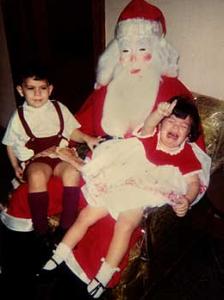Costume effrayant de Père Noël