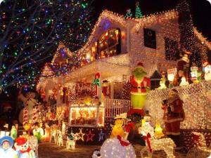 Une troisième maison très (trop) décorée pour Noël