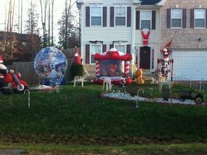 Décoration peu subtile pour Noël