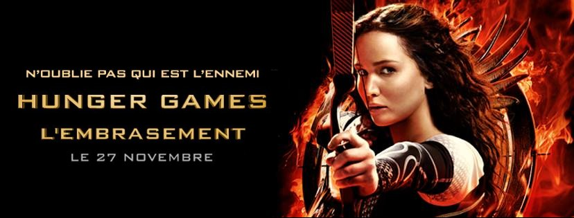 Bannière du film Hunger Games l'Embrasement