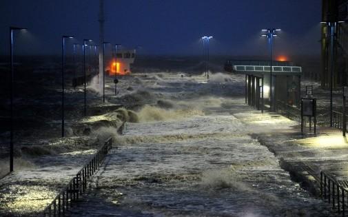 Photo des dégâts de la tempête Xaver