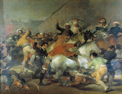 Le peintre Francisco de Goya peint El dos de Mayo 1808