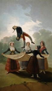 Le peintre Francisco de Goya a peint El pelele