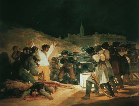 Le peintre Francisco de Goya a peint El tres de mayo
