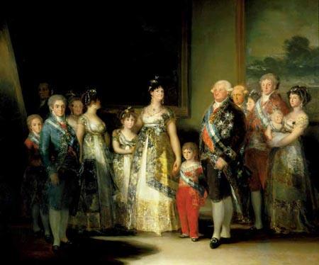 Le peintre Francisco de Goya a peint La familia de Carlos IV
