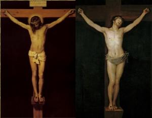 Les peintres Goya et Velázquez représentent le Christ crucifié