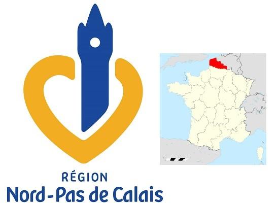Les logos des conseils des régions du Nord de la France