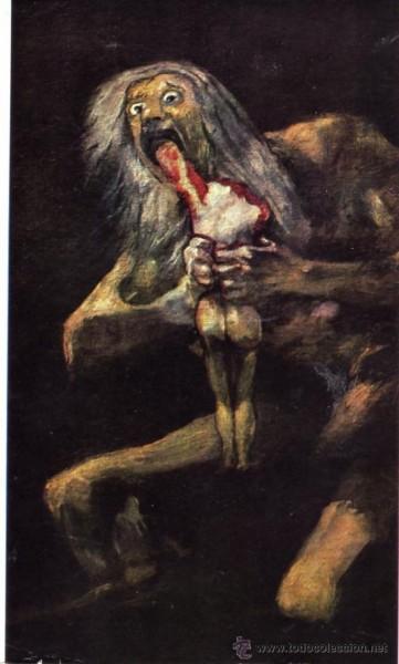 Le peintre Francisco de Goya a peint Saturno devorando a un hijo