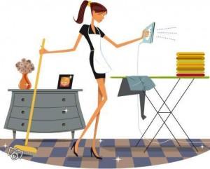 Le ménage est une des dix idées de choses à faire chez soi lorsqu'il pleut