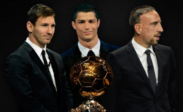 Photo des finalistes du ballon d'or 2013