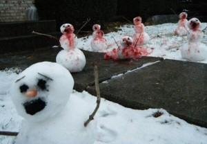 Un des pires bonhommes de neige pour les sélections enneigées de 2014