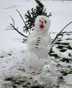 Bonhomme de neige pour les sélections enneigées de 2014
