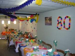 Une belle décoration pour les sélections d'anniversaires