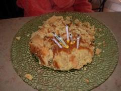 Une photo d'un gâteau raté pour les sélections d'anniversaires