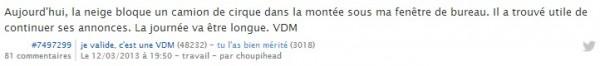 Les sélections enneigées de 2014 avec des VDM