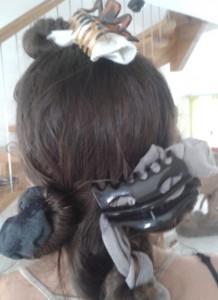 Boucler ses cheveux : chausette