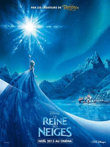 Affiche promo du film la reine des neiges