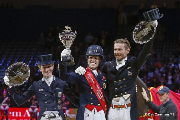 Podium dressage finale FEI World Cup 2014