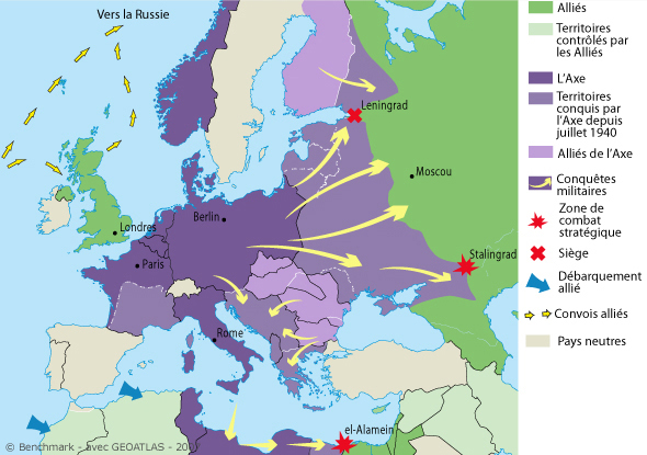 Carte Europe 1941