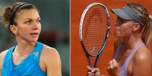 Halep Sharapova Roland Garros 2014