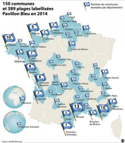 Lauréats Pavillons Bleus 2014