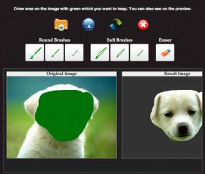 Un exemple de comment utiliser le site pour retoucher les photos en enlevant le fond.