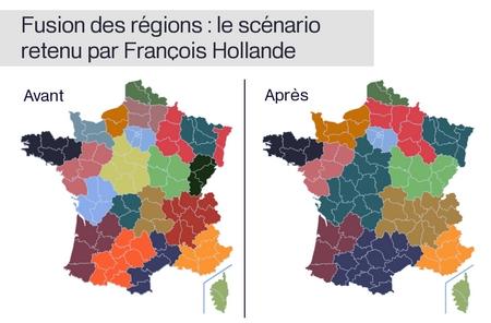 Le redécoupage des régions