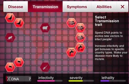 Liste des évolutions possibles concernant les maladie