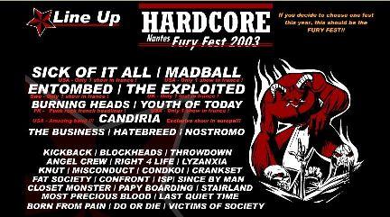 Affiche du Fury Fest 2003