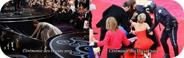Les deux chutes de Jennifer Lawrence aux Oscars