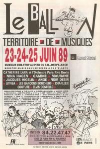 Première édition des Eurockéennes en 1989