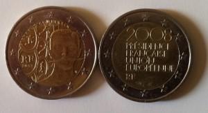 Pièces 2€ commémorative Coubertin Présidence France